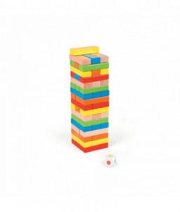Pino Цветна дженга с дървени блокчета