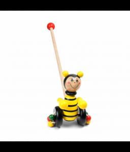 Pino Дървена играчка за бутане Pino - Пчеличка Снимка 1