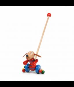Pino Дървена играчка за бутане Pino - Кученце Снимка 1