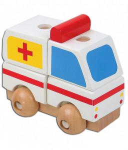 Pino Мини 3D дървен пъзел Pino - Линейка Снимка 1