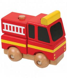 Pino Мини 3D дървен пъзел Pino - Пожарна Снимка 1