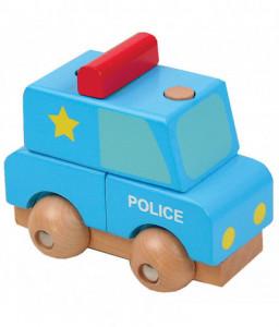 Pino Мини 3D дървен пъзел Pino - Полицейска кола Снимка 1