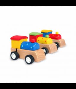 Pino Дървен локомотив с навиващ се механизъм
