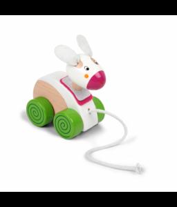 Pino Дървена играчка за дърпане Pino - Зайче Снимка 1
