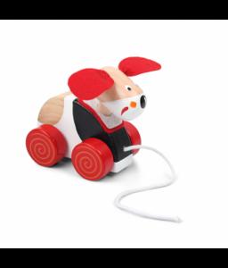 Pino Дървена играчка за дърпане Pino - Кученце Снимка 1
