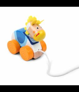 Pino Дървена играчка за дърпане Pino - Магаренце Снимка 1