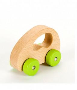 Pino Дървена играчка за бутане Pino - Количка в натурален цвят Снимка 1