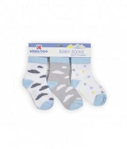 Kikka Boo Бебешки памучни чорапи 0-3 месеца момчета Снимка 1