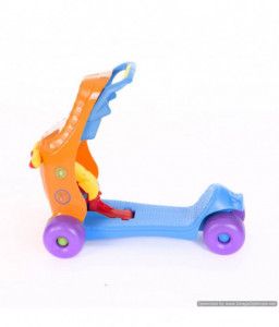 Kikka Boo Количка за яздене Baby walker 3 in 1 Blue/Orange Снимка 1