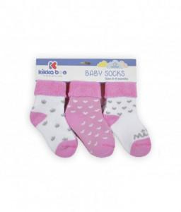 Kikka Boo Бебешки памучни термо чорапи 6-9 месеца момичета Снимка 1