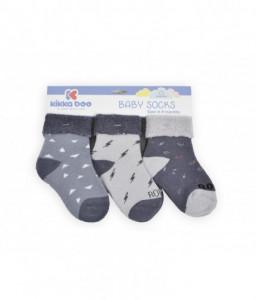 Kikka Boo Бебешки памучни термо чорапи 0-3 месеца момчета Снимка 1